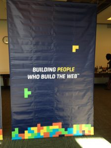 "Interface Web School banner - ""Building People Who Build the Web"""
